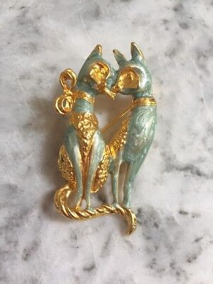 Siamese Twin Cat Brooch/Pin