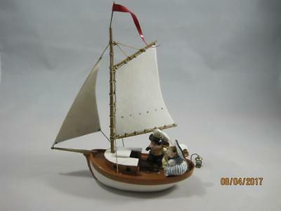 "Wee Forest Folk M-481 Breezing Along - Custom Name on Sailboat - ""True Love"""