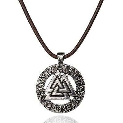 1pcs Slavic Norway Valknut pagan amulet pendant Men necklace Scandinavian Vik...