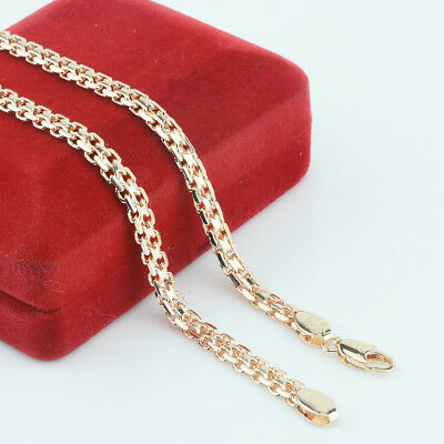 FJ New 5mm Men Women 585 Gold Color Chains Carve Twisted Hot Russian Necklace...