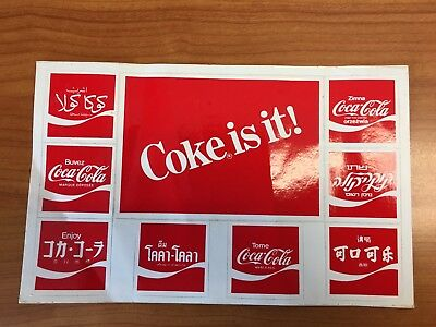Coca Cola International Decal Stickers