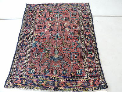 2x3ft. Antique Persian Malayer Wool Rug