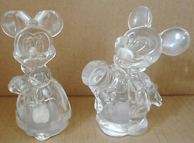 Lenox Disney Crystal Mickey Minnie Mouse Salt & Pepper Set Bride Groom