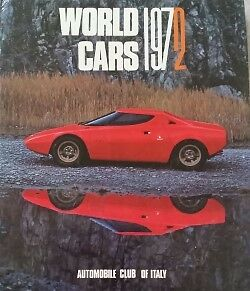 World Cars 1972, Automobile Club Of Italy Car Book