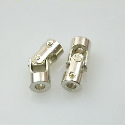 2Pcs 4mm x 4mm Stainless Steel Universal Joint Shafts Coupling Motor Connector