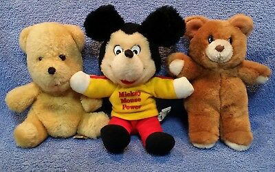Lot Of 2 Vintage Disney: Mickey Mouse & Winnie The Pooh Plush