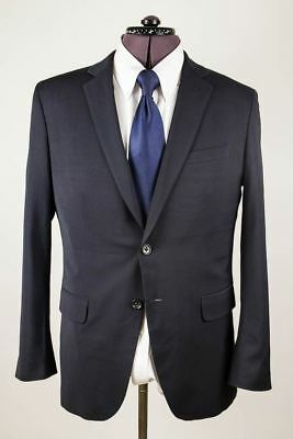 Banana Republic Tailored Fit Navy Blue Serge Lanificio Cerruti Wool Jacket 40R
