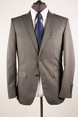Zara Man Charcoal Grey Woven Pick Stitching 2 Btn Sport Coat Blazer Jacket 38S