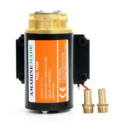 Upgraded 12v Scavenge Impellor Gear Pump-Diesel Fuel Scavenge Oil Transfer