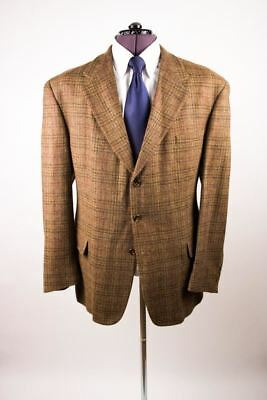 Tommy Hilfiger Brown Flecked Check Plaid Tweed 3 Btn USA Jacket Blazer 48L