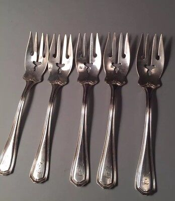Five (5) Reed & Barton Sterling Covelly Salad Forks