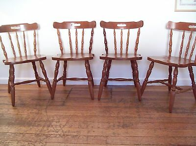 Chairs x 4 -Wooden Vintage Colonial Style Dining Kitchen Chairs