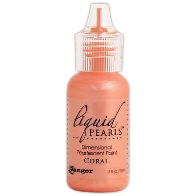 Ranger Liquid Pearls Pearlescent Paint CORAL 18ml