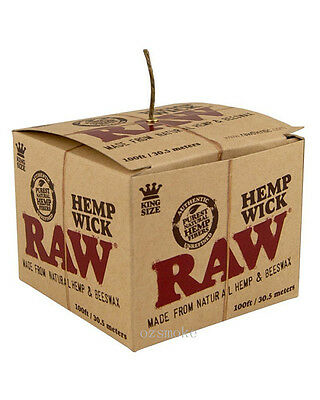 RAW Hemp Wick 30.5m/100ft Natural Unbleached Hemp and Beeswax