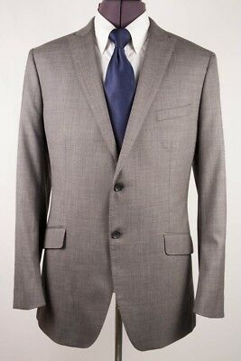 Banana Republic Grey 2 Btn Woven Wool Blazer Sport Coat Jacket 46L