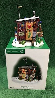 """Department 56 Village Accessories """"Here Fishy Fishy Ice House"""" in Box #56.52937"""