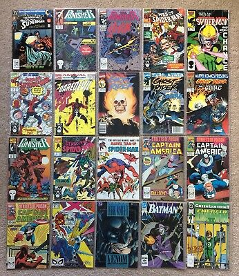 Vintage Comic Book lot of 20- Marvel and DC! Spider-man, Batman, & more!