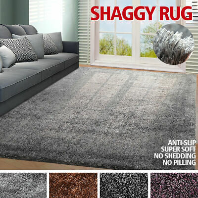New Designer Ultra Soft Shag Shaggy Floor Confetti Rug Carpet Anti-Slip Design