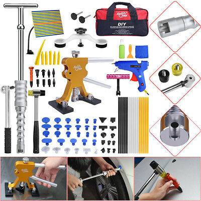 81× Paintless Dent Removal Puller Lifter PDR Tools T Bar Hammer Hail Repair Kits