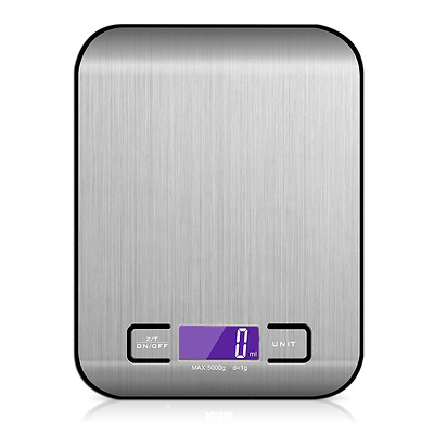 Digital Kitchen Scale LCD Electronic Cooking Food Weighing Scales 11LB/5KG x 1G