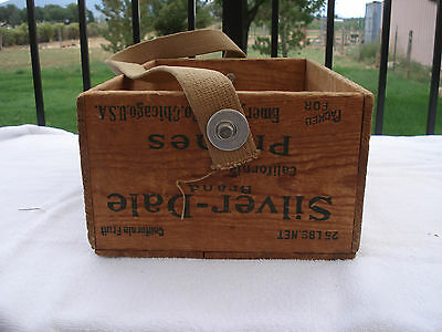 Vintage Wood Wooden California Prune Produce Crate Carrier