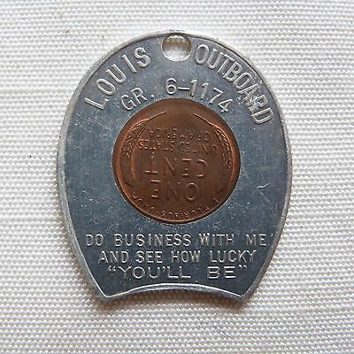 Milwaukee Wisconsin Louis Outboard 1953D encased penny - WI