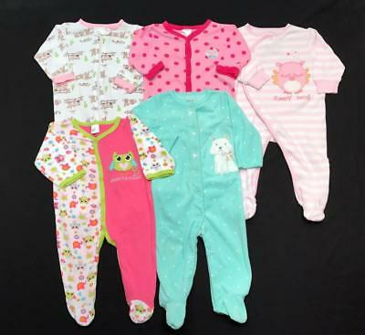 Baby GIRL 6-9 months 9 months footie SLEEPER PAJAMA Clothes LOT