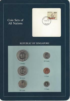 Coin Sets of All Nations - Singapore, Blue Card