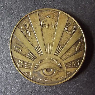 All-Seeing Eye Lucky Token, Good luck Amulet,