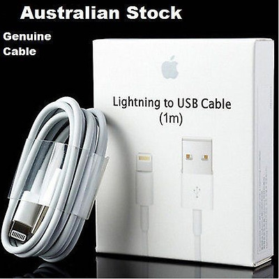 2x Original Genuine Apple Lightning Data Sync Cable Charger iPhone 5C 5S 6 iPad