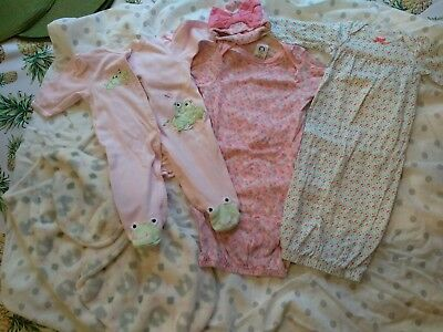 0-3 month baby girl clothes 15 piece lot
