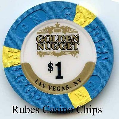 1.00 Chip from the Golden Nugget Casino in Las Vegas Nevada Large Inlay