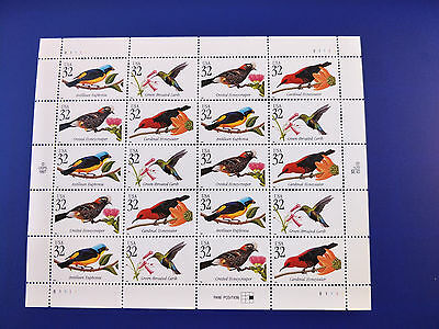 US 32c Tropical Birds Stamp Sheet Mint Never Hinged - Free Postage!