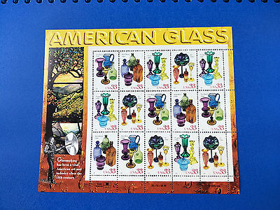 US33c American Glass Stamp Sheet Mint Never Hinged-Free Postage!
