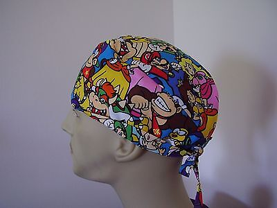Surgical Scrub Cap/Hat-Nintendo Super Mario Characters-One size-Men Women