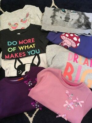 Bulk Size 5 Girls Clothes Jumpers And Long Sleeve Shirts