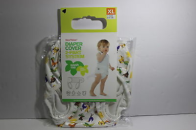 NEW ImseVimse Imse Vimse Cloth Diaper Cover 2 Part System Size XL 24-31 lbs Zoo