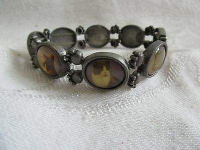 Vintage? Avon Cat Pictures Stretch Bracelet