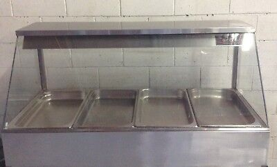 WOODSON COMMERCIAL Kitchen Stainless 4 Bay BAIN MARIE Cafe Restaurant Equipment