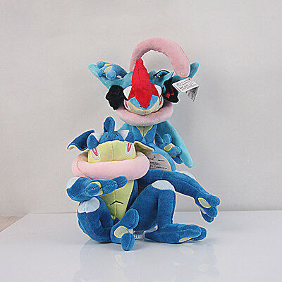 Pokemon Center 12 inch Greninj & 6 Inch Gekoga Plush Toy Stuffed Doll 2pcs US