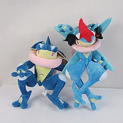 2pcs Pokemon Center Gekoga Greninja Plush Toy Stuffed Anime Doll 12 inch X'mas