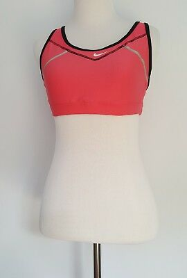 Womens Nike Fit Dry Sports Bra Pink Black Womens Size Medium (8-10)