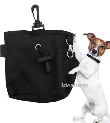 Pet Dog Puppy Obedience Training Treat Bag Feed Bait Food Snack Pouch Belt Black