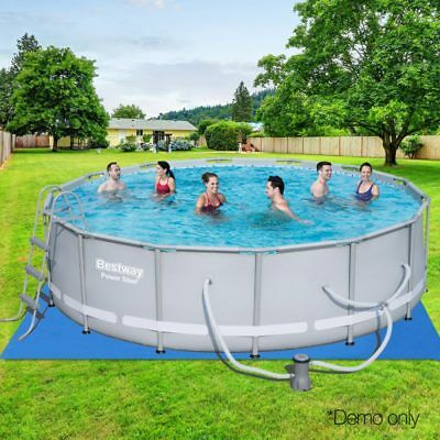 Bestway Round Above Ground Steel Frame Swimming Pool Summer Family Set Large