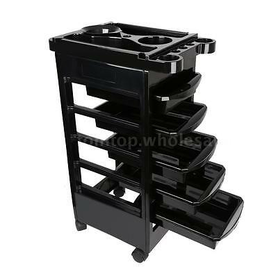Removable Hairdressing Hair Trolley Salon Rolling Cart Barber Storage Station