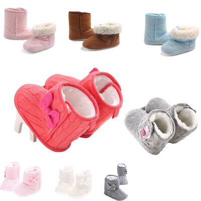 0-18M Newborn Baby Winter Warm Snow Boots Infant Boy Girl Crib Shoes Prewalker