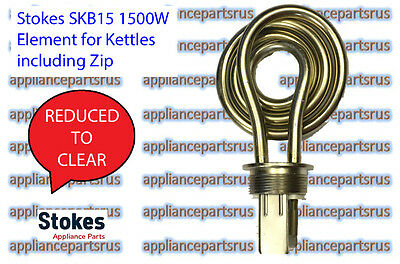 Stokes SKB15 Element 1500W for Kettles including Zip - NEW