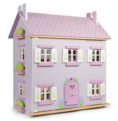 NEW Le Toy Van Lavender House Big Wooden Doll House Only LEH108