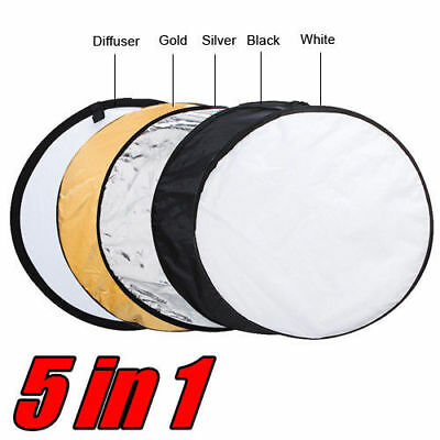 """80cm 32"""" 5-in-1 Photo Photography Studio Light Collapsible Reflector Kit + Case"""