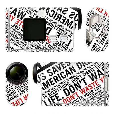 Sony HDR-AS100V STICKERS Protected Decal  Waterproof Dustproof PVC Decor TNA0103
